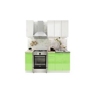 VerDesign, VALENCIA 120, biely lesk/zelený lesk