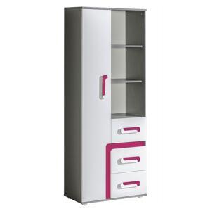 Byvajsnami SK, TITO A4, biela/ružová/antracit
