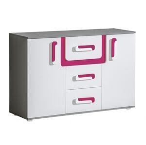 Byvajsnami SK, TITO A7, biela/ružová/antracit