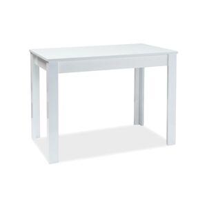 Byvajsnami SK, BERTO rozkladací jedálenský stôl, 100x60 cm, biely lesk