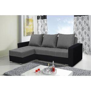 Rohová sedačka ALEN šedá/čierna