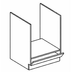 DK60 skrinka na vstavanú rúru AURA mocca/šedá