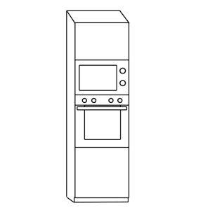 CORA BRAVA skrinka na vstavanú rúru a mikrovl. DKMS60PL