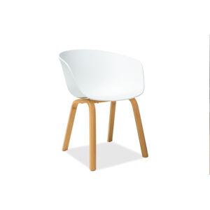 Byvajsnami SK, LEGO jedálenská stolička, dub/biela