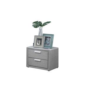 VerDesign, ELENA čalúnený nočný stolík, sivá