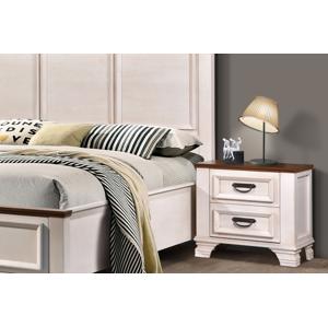 VerDesign, JENNY nočný stolík, mrazivá biela