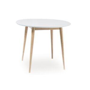 Byvajsnami SK, KLARSON okrúhly jedálenský stôl, biela/dub