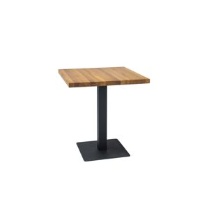 Byvajsnami SK, OPUR stôl, prírodná dýha, 60x60 cm, dub/čierna