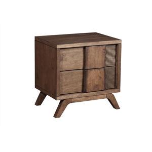 Byvajsnami SK, SANDRA drevený nočný stolík, pravý, orech lennox