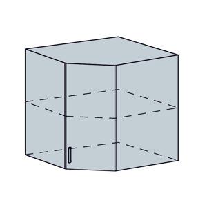 ARTEMIS/VALENCIA horný vnút. roh šikmý 60HR, biela/biely metalic.