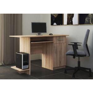VerDesign, VEBER pracovný stôl pravý, dub sonoma