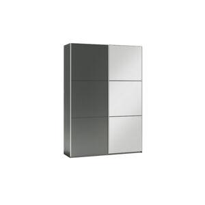 GOGO 120 šatníková skriňa so zrkadlom, grafit