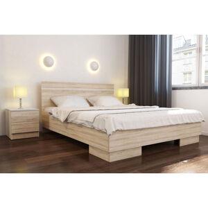 VISA posteľ 160, dub sonoma