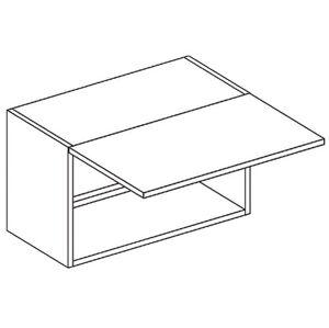 CORA digestorová skrinka WO60-35, OLIVA/ČOKO