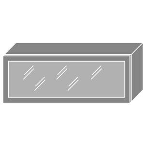 PLATINA horná skrinka W4BS/90 ALU, korpus biely