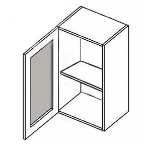 W40W MR P/L horná vitrína 1-dverová - mrazené sklo, vhodná ku kuchyni NORA