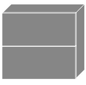 PLATINA horná skrinka W8B/80 AV, korpus grey/lava