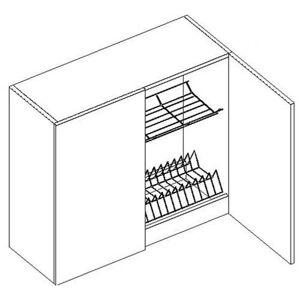 W80SU horná skrinka s odkvapávačom MYA, picard/biely lesk