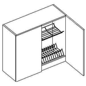 CORA skrinka s odkvapkávačom W80SZ, OLIVA/ČOKO