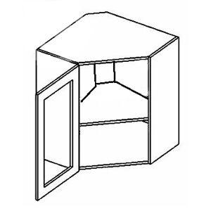 FLORENCIA rohová vitrína WR60W, číre sklo